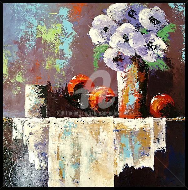 Laurence Clerembaux - les fleurs mauves